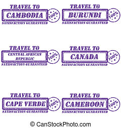 Travel to stamps - Set of stamps travel to...