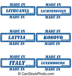 Made in stamps - Set of stamps made in...