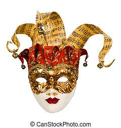 carnaval, veneciano, máscara, campanas