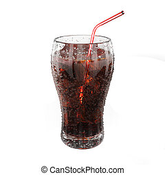 Fresh coke - Very high resolution 3d rendering of a glass of...