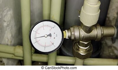 Water pressure meter installed, Full HD