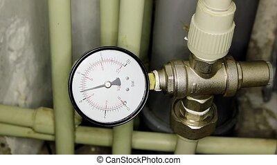Water pressure meter installed, Full HD