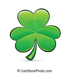 stPatricks Days trefoil - stPatricks Days symbol glossy...