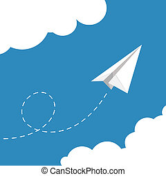 vector illustration of Paper plane