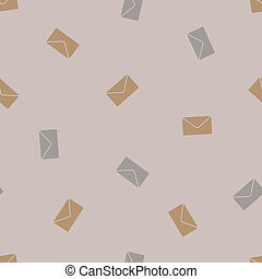 seamless background: envelope newsletter. Style Illustration...