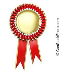 Award rosette - Very high resolution 3d rendering of an...