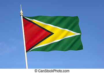 Flag of Guyana - The flag of Guyana, known as The Golden...