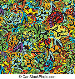 Seamless Vector floral pattern