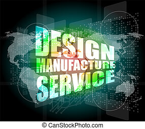 design manufacture service words on digital binary touch...