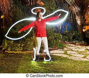 Teenage angel (light painting) - Teenage angel - light...