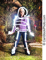 Teenage skeleton light painting - Teenage skeleton- light...