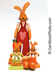 easter-bunny-family - wooden figures of an...