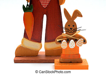 easter-bunny - small wooden easter-bunny Standing in front...