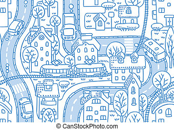 Road seamless pattern - Seamless vector background pattern...