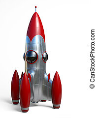 Space rocket - Very high resolution 3d rendering of a...