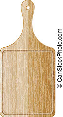 wood cutting board - Vector illustration of wood cutting...