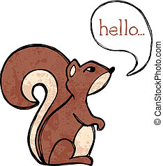 Squirrel drawing - Illustrated squirrel drawing with text...