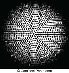 silver disco lights background - Vector silver disco lights...