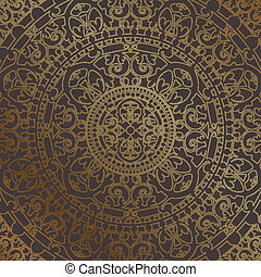 background with gold ornament