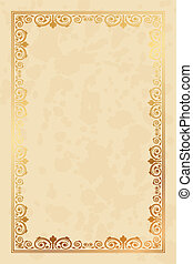 parchment paper - Vector parchment paper background with...