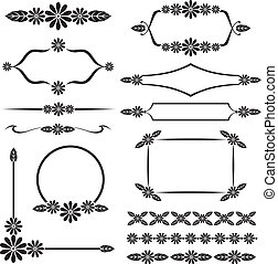 Floral design element set