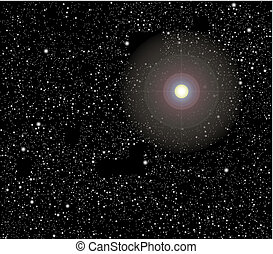 Stars in space vector