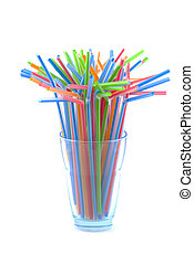 Colorful straws. - Drinking straws in multiple colors,...