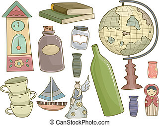 Collectibles Design Elements - Illustration Featuring...