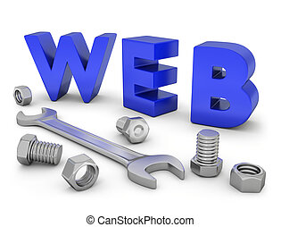 Web construction - Very high resolution conceptual image of...