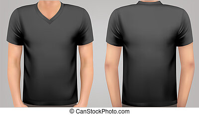 A male body with a black shirt on Vector