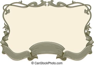 Vintage Ribbon Frame