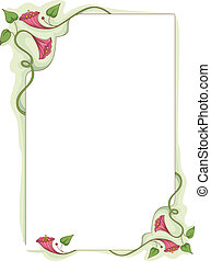 Flower Vine Frame - Frame Illustration Featuring Colorful...
