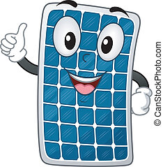 Solar Panel Mascot - Mascot Illustration Featuring a Solar...