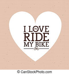 cycling design - cycling design over dotted background...