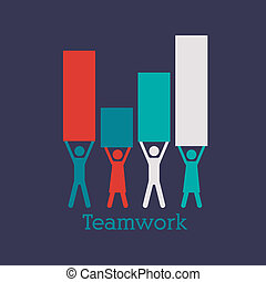 teamwork design over blue background vector illustration