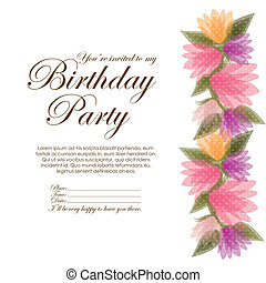 birthday party over white background vector illustration
