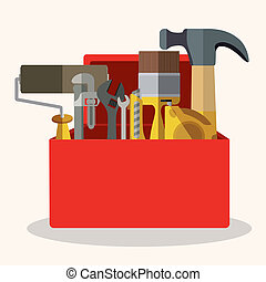 under construction over white background vector illustration...