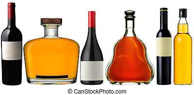 Assorted alcoholic beverages - Assorted colorful alcoholic...