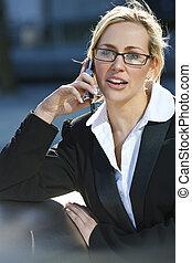 Beautiful Female City Executive