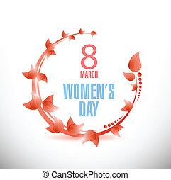 Happy Womens Day celebrations concept illustration design...