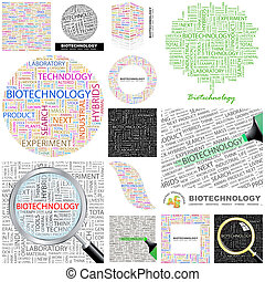 Biotechnology. Concept illustration. - Biotechnology. Word...
