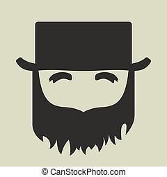 Irish St. Patricks Day leprechaun icon with a silhouette of...