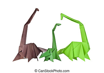 Origami Paper figures of dinosaurs Traditional Japanese art...