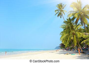 Tropical beach. White sand beach. Koh Chang, Thailand