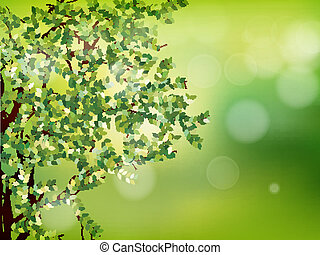 Background with selective focus. EPS 10 - Natural green...