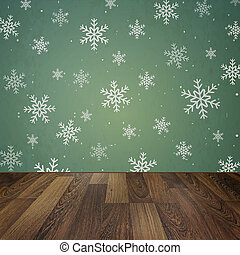 Christmas holiday background with wooden floor