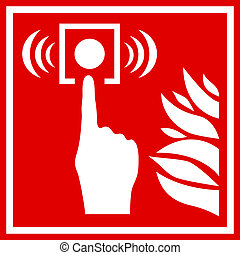 Fire alarm sign - Fire alarm vector sign
