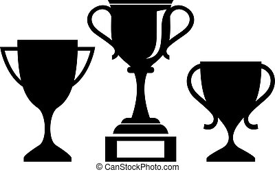 Vector cup icon isolated on white