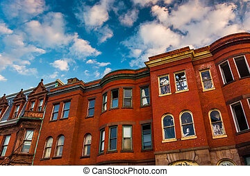Abandoned rowhouses in Baltimore, Maryland