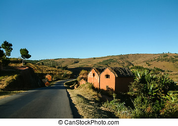 Adobe house - Typical adobe village on yhe national highway...